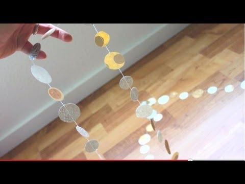 Simple Circle Garland - DIY Nursery Series w/ iheartstitching