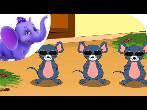 Three Blind Mice - Nursery Rhyme with Lyrics