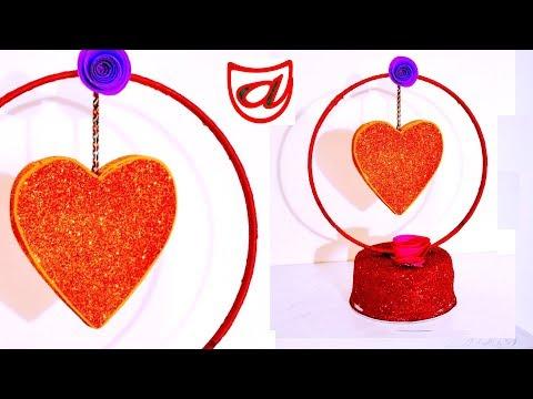 DIY Heart showpiece from waste materials around you   Valentine's day gift craft
