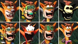 Crash Bandicoot - All Skins & Costumes (N. Sane Trilogy)
