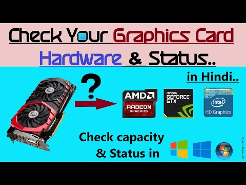 How To Find Details Of Installed Graphics Card In Windows   Check Status Of Your Graphics Card.