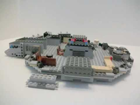 Lego Star Wars Millennium Falcon 7965 Built In Stop Motion Youtube