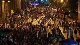 Multitudinaria marcha por la paz