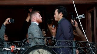 Canelo Alvarez vs. Julio Cesar Chavez Jr. FULL Los Angeles Face Off Video