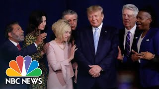 Christian Leaders Pray Oטer Trump During Launch Of Evangelicals For Trump Coalition | NBC News