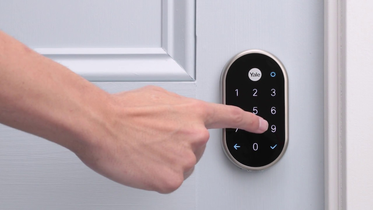 how to lock and unlock your nest yale lock youtube