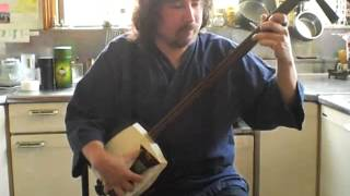 Roku Dan, Secrets unveiled! Tsugaru Shamisen for Karl H. on Bachido
