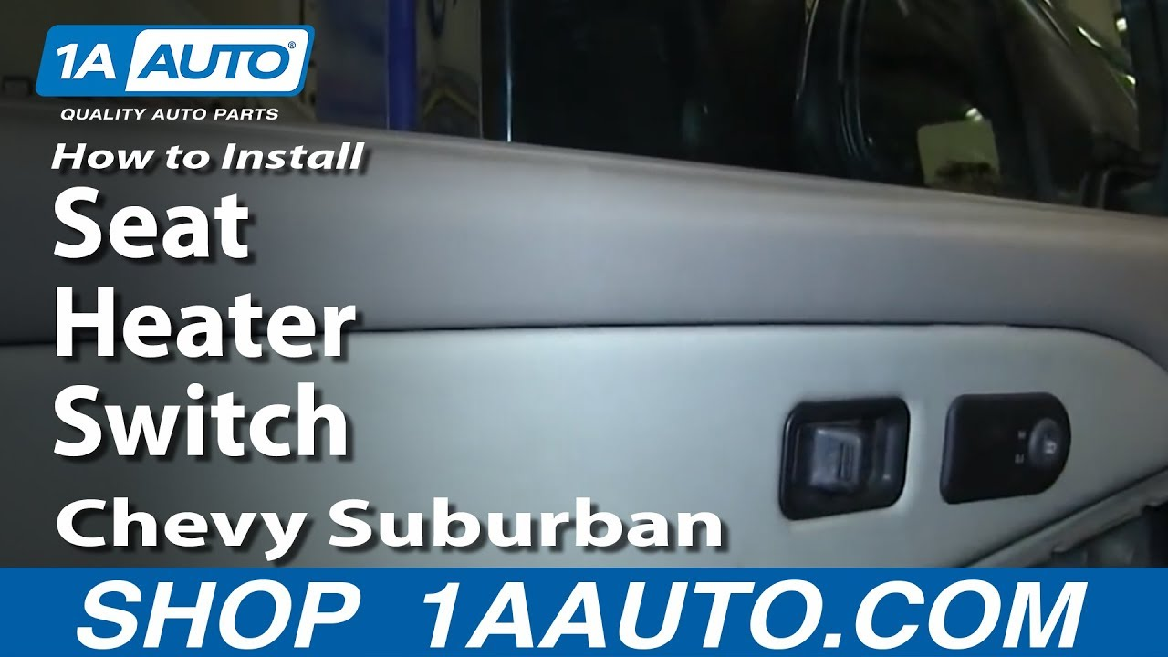 how to replace heated seat switch 00 06 chevy suburban [ 1280 x 720 Pixel ]