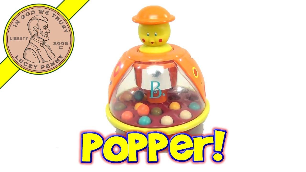 Best Ball Popper Toys For Kids : B poppitoppy spinning ball top popper baby toy by battat