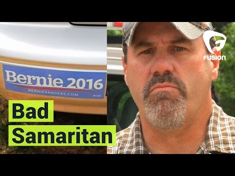 Trump Supporter leaves Bernie Sanders supporter stranded