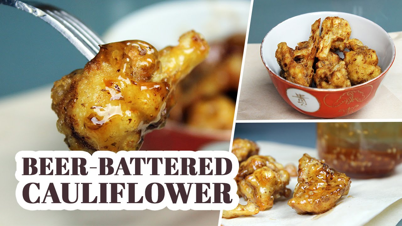 Beer-Battered Cauliflower Wings with 'Honey' Garlic Sauce | Recipe by Mary's Test Kitchen