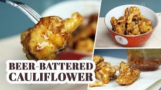Beer-battered Sweet Garlic Cauliflower Wings | By Mary's Test Kitchen