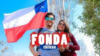 Fonda en fiestas Patrias de Chile... terremoto, anticucho, cueca y sopaipilla!