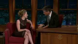 The Late Late Show with Craig Ferguson on Scarlett Johansson Full Talk Show
