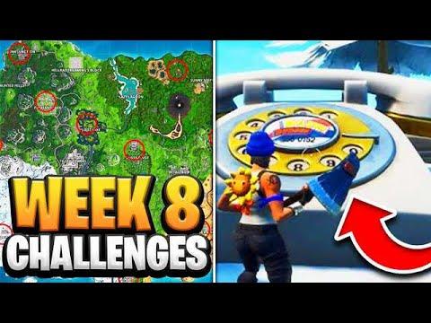 fortnite season 8 week 8 challenges guide how to do week 8 challenges in fortnite tutorial - week 8 challenges fortnite season 8