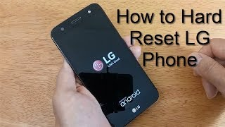 How to Hard Reset LG Mobile Tracfone - Open Locked Android Phone LG - Free & Easy