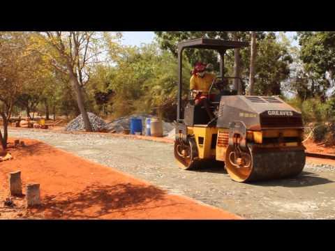 Poured Earth Concrete Road - Visitor Centre, Auroville