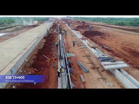 DSM October  2019 Progress Video; Standard Gauge Railway Line From Dar Es Salaam To Morogoro
