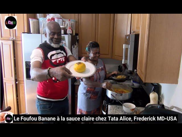 Le Foufou Banane chez Tata Alice à Tropical Delights, Frederick MD, USA