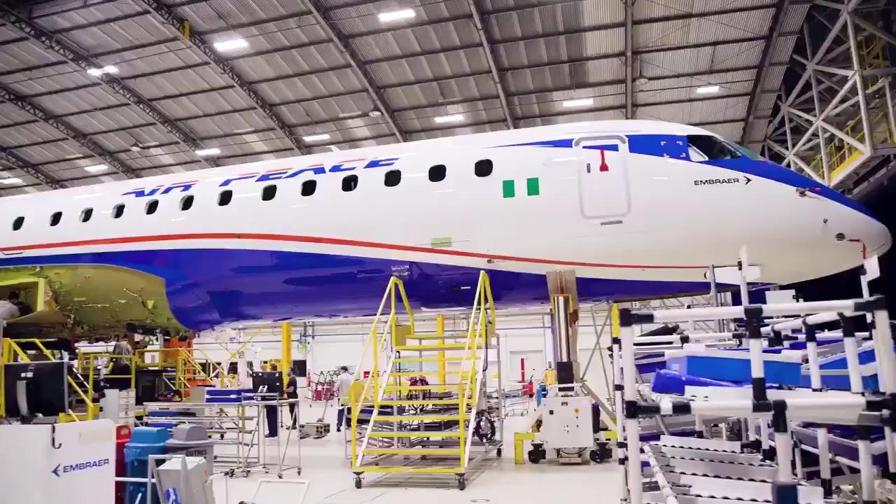 Air Peace Embraer E195 E2 Takes Shape - YouTube