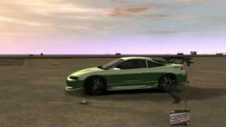 Mitsubishi Eclipse 1999 Tuning Gta 4 Damage test
