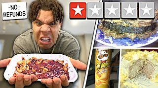 I Only Ate 1 STAR Rated FOODS for 24 hours!! (impossible food challenge)