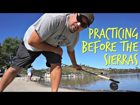 Refreshing old skills before RVing CA-395 ~ Free San Diego Fly Fishing Clinic