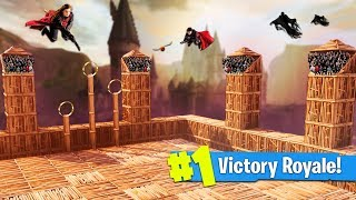 BUILDING A HARRY POTTER QUIDDITCH PITCH | Fortnite: Battle Royale