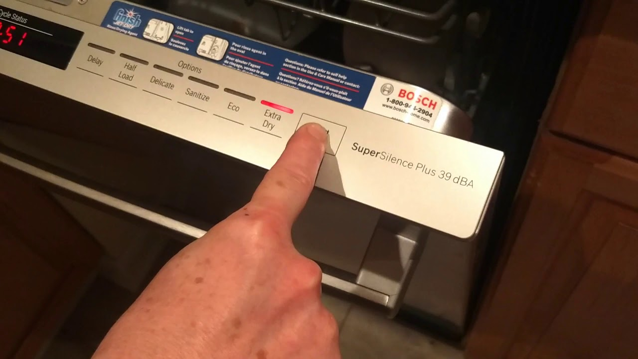 How To Reset A Bosch Dishwasher Dishwasher Buttons Stuck On Long Washing Cycle Youtube