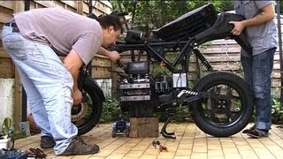 BMW k75 rebuild            smooth engine removal 4/