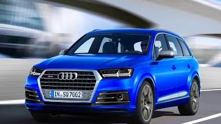 New audi SQ7 tdi 2016 - first test drive only crazy sound