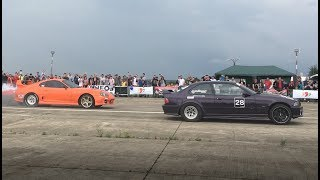 Toyota Supra (1000HP) vs BMW E36 (800HP) | Drag Racing Moldova 2018