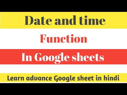 Date and time practical use in Google sheets || google sheets update date automatically