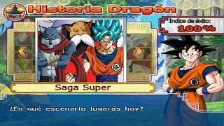 Dragon Ball Z Budokai Tenkaichi 4 - Modo historia  - Goku SSJ Blue Kaioken VS Bergamo y Toppo