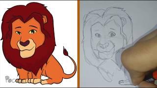 Cómo dibujar a Mufasa Chibi (El Rey León)