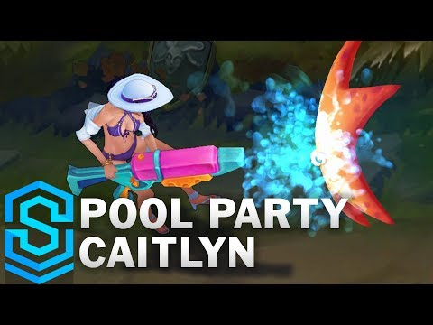 Pool Party Caitlyn Skin Spotlight - League of Legends