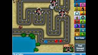 Bloons Tower Defense 4 Walkthrough - Track 1, Hard, No Lives Lost (Died on Wave 79)