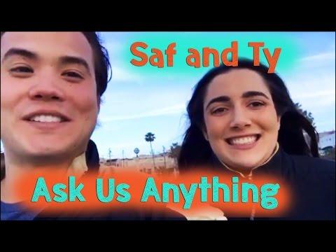 SUNDAY BEACH TRIP and Q&A! (Part 1) | Safiya & Tyler vlog