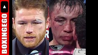 A LOOK AT CANELO AND GGG'S FACES AFTER CANELO VS GGG 2, CANELO VS GOLOVKIN TALK (VAMPIRE STREAM)