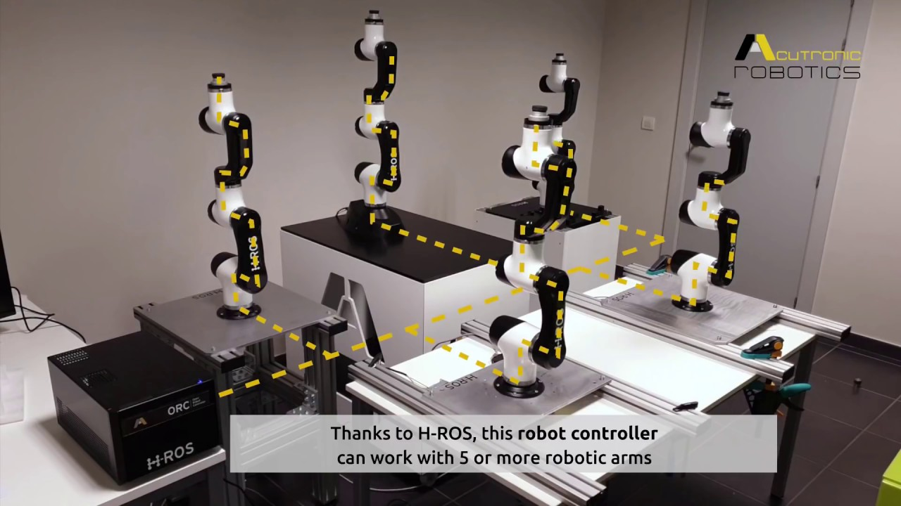 Distributed synchronization of industrial robots through ROS 2