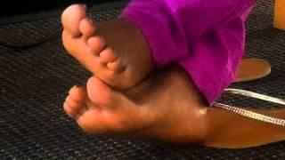 Mature green toes ebony Candid