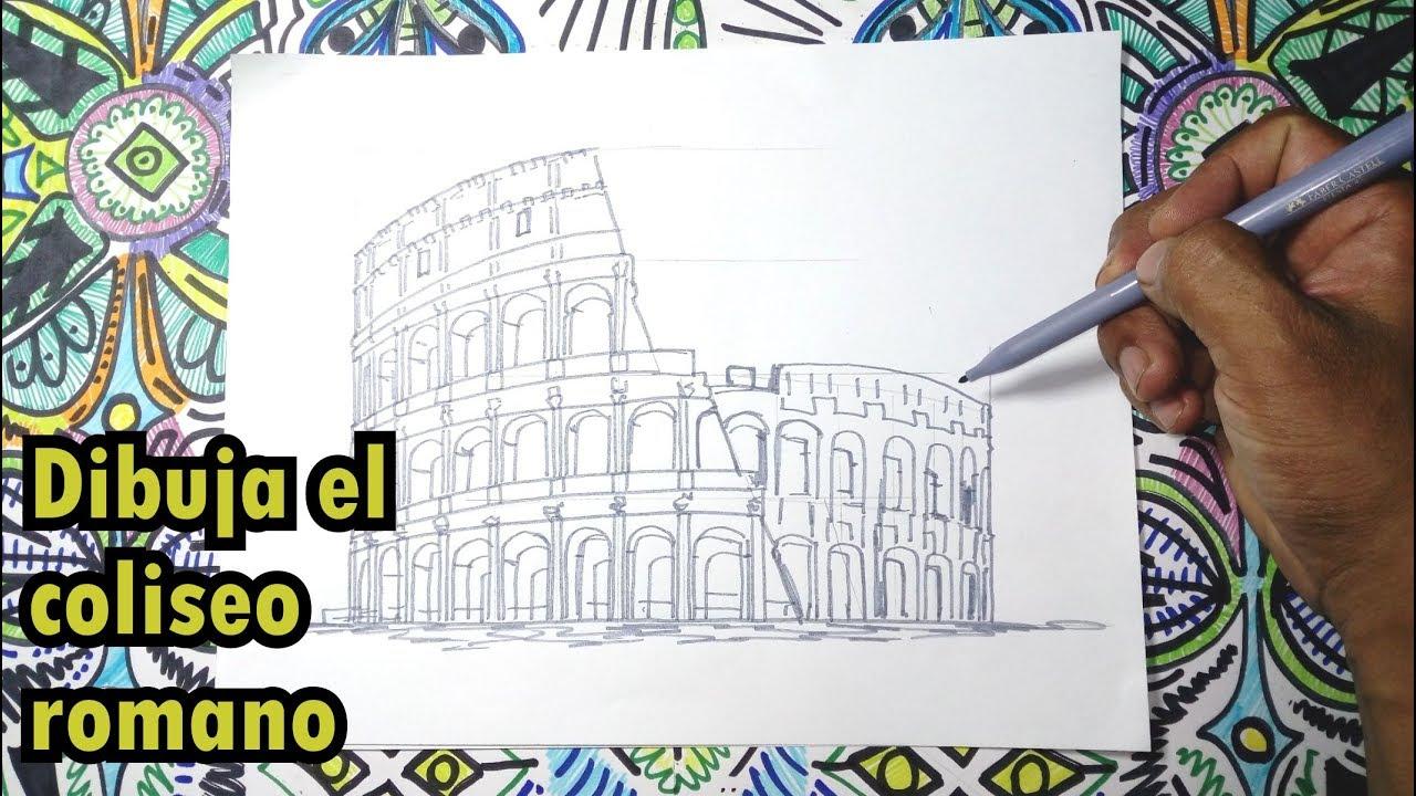 Dibuja El Coliseo Romano En Italia Youtube