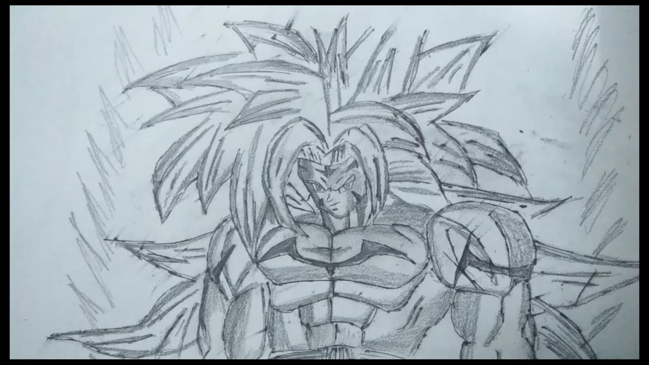 Drawing Goku Super Saiyan 7 Devvrat Pandey