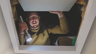 i spent the night in an attic what i found was incredible sleep in a loft challenge