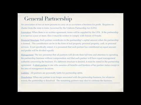 Business Organizations: Sole Proprietorships, Partnerships, LLC's, Joint Ventures