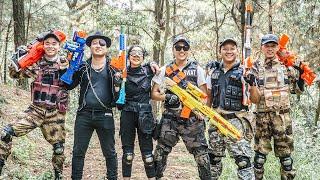 LTT Game Nerf War : Couple Warriors SEAL X Nerf Guns Fight Crime group Inhuman Great Hunter