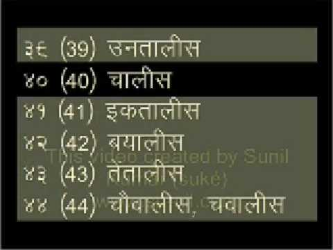 25  numbers in Hindi words, formally
