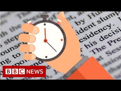 The Mueller report in 60 seconds - BBC News