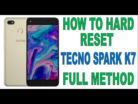 HOW TO HARD RESET TECNO SPARK K7 2018 SOLUTION WORKS 1000%
