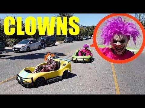 จะเกิดอะไรขึ้นถ้าพวกเขาโดนตัวตลกขับรถ GoKarts ไล่ล่า